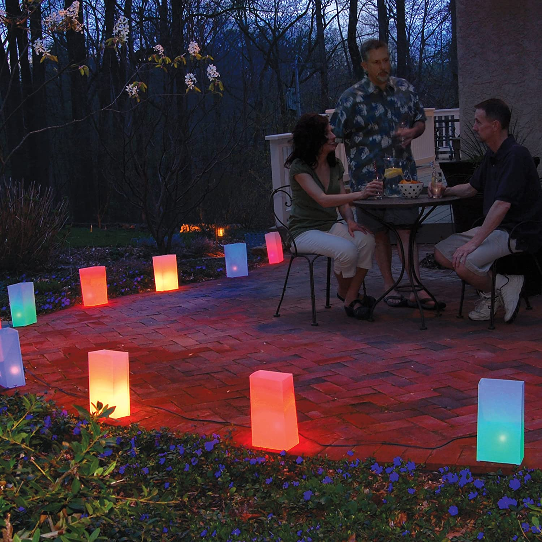 Lumabase 60710 10 Count Electric Luminaria Kit Multicolor