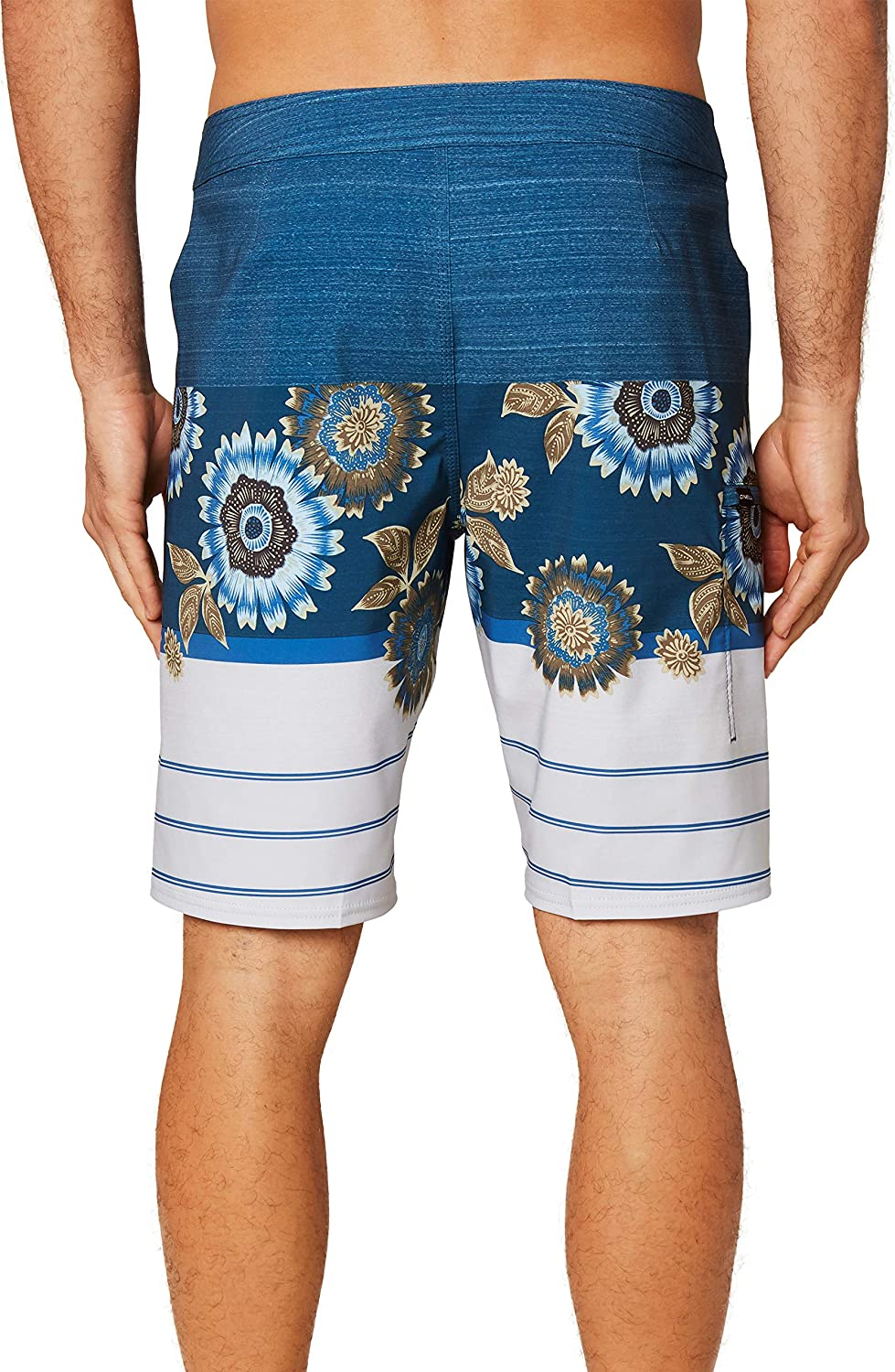Mid-Length Swimsuit 20 Inch Outseam ONEILL Mens Water Resistant Hyperfreak Stretch Swim Boardshort