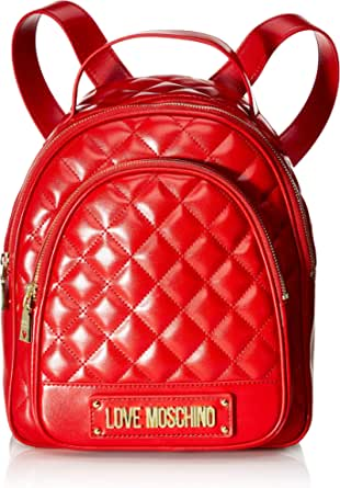Love Moschino Borsa Quilted Nappa PU, Bolso tipo mochila para Mujer, rojo, 29x30x12 centimeters (W x H x L)