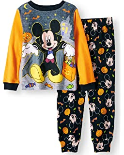 disney mickey mouse little boys toddler halloween pajama set