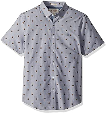 26aeb2d98 Amazon.com: Original Penguin Men's Short Sleeve Burger Printed Shirt:  Clothing