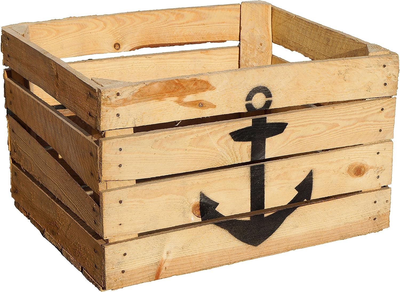 Caja de fruta Johanna, tamaño aprox. 50 x 40 x 30 cm, caja de madera decorativa: Amazon.es: Bricolaje y herramientas