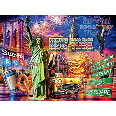 Cities Collection New York Puzzle - 1000Piece: Toys & Games