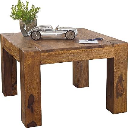 Wohnling Sheesham Tavolino Da Salotto Legno Massello 60 X 60 Cm Amazon It Casa E Cucina
