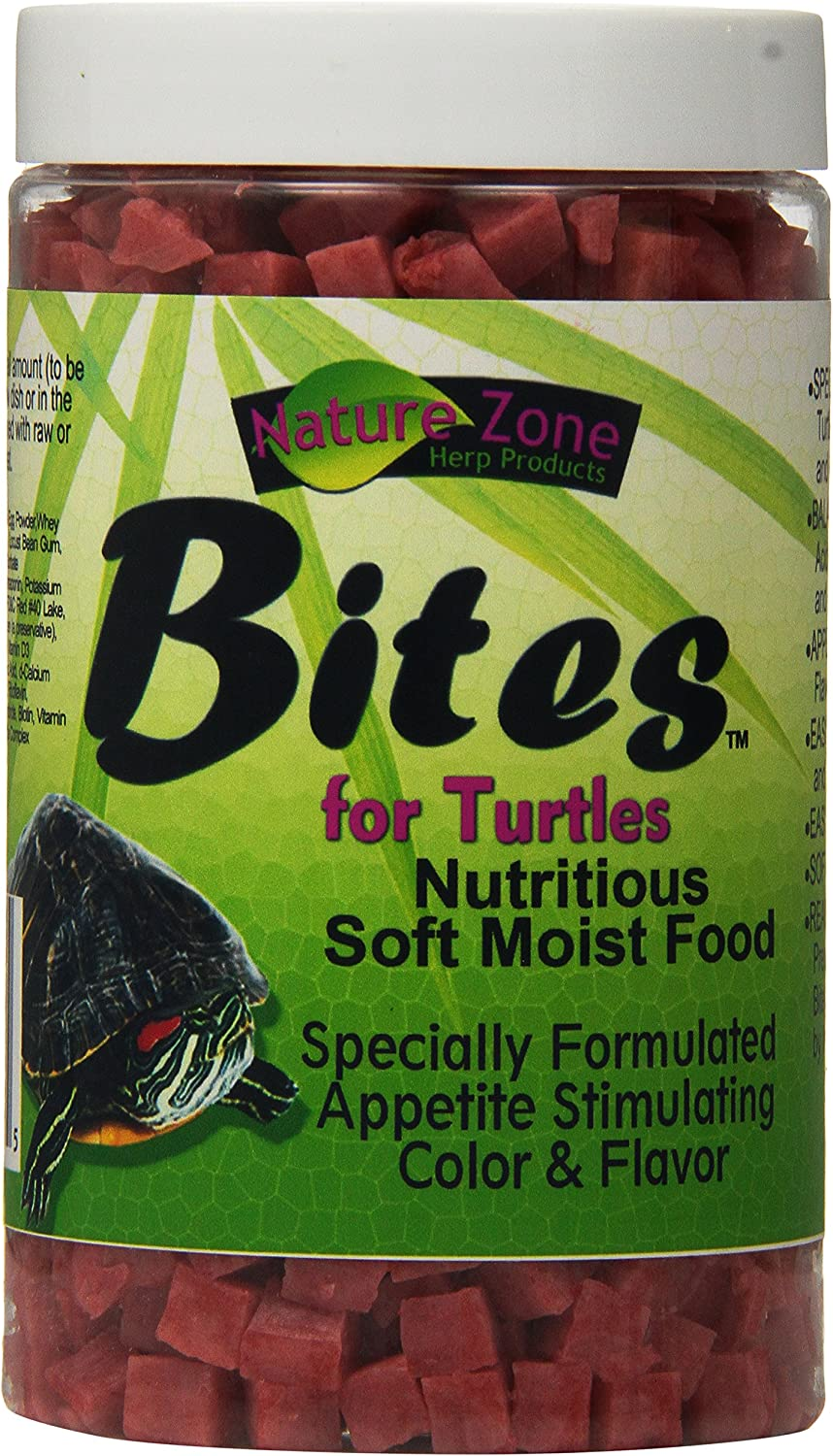 Nature Zone SNZ54671 Bites Soft Moist Food for Aquatic Turtles, 9-Ounce