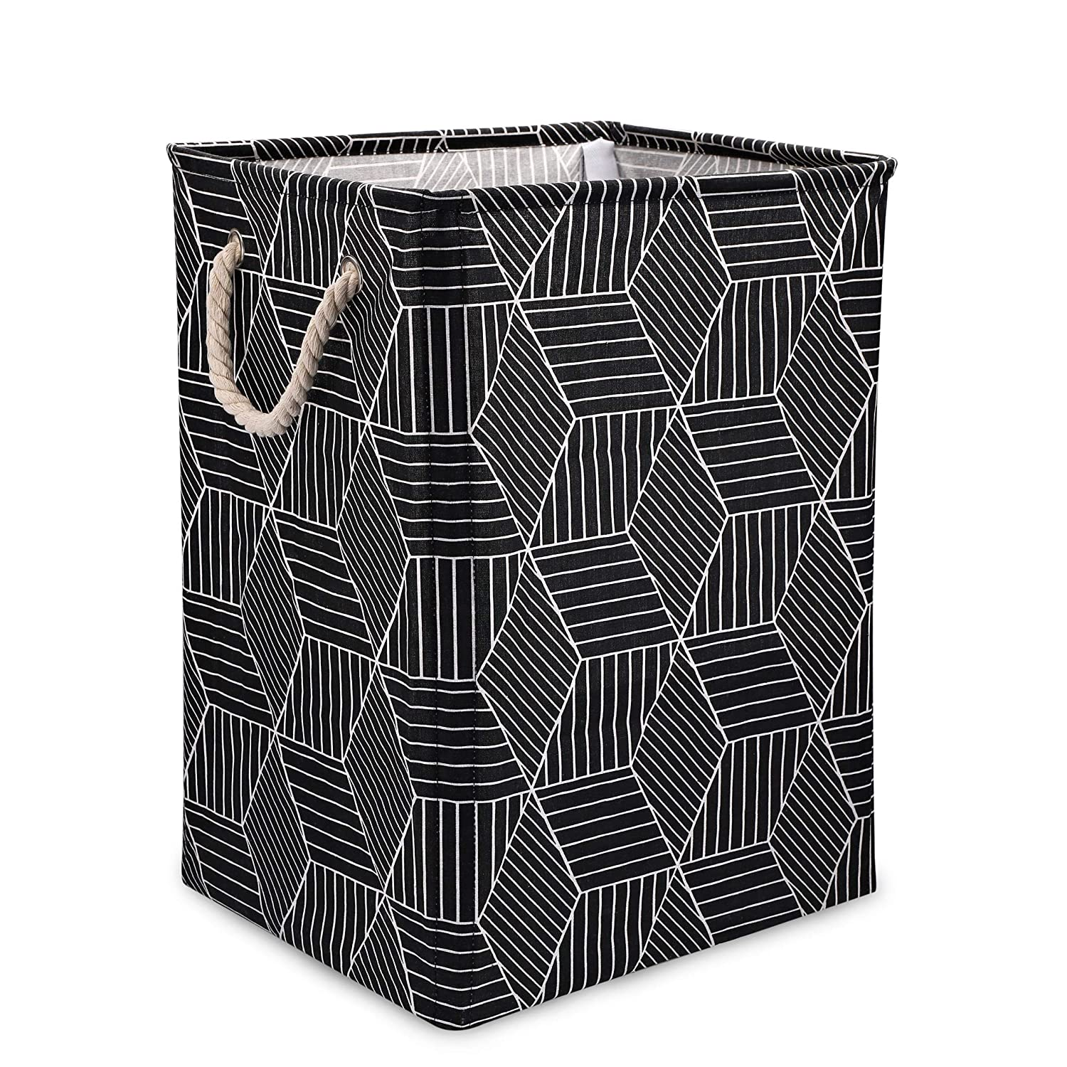 Scnvo Laundry Basket with Handles Linen Hampers for Laundry Storage,Laundry Bag Well-Holding Upgrade Foldable Laundry Hamper for Toys Clothing Organization (Black)