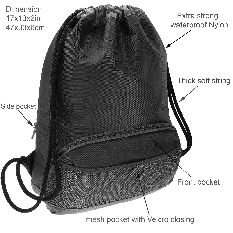 Amazon.com  ButterFox Waterproof Fabric Drawstring Swim PE Gym Sports Pool  Bag Cinch Sack Sackpack Backpack for Kids 873c1b1a9a60f