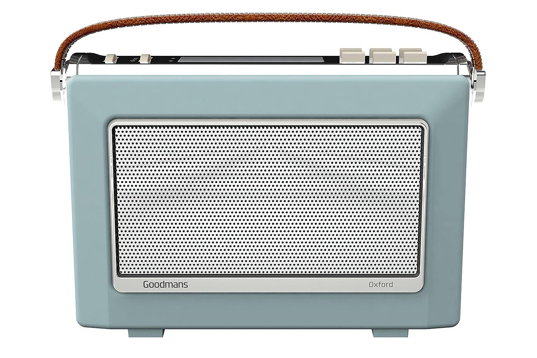 Goodmans 1960\'s Vintage Style Digital & FM Radio in Sky Blue: Amazon ...