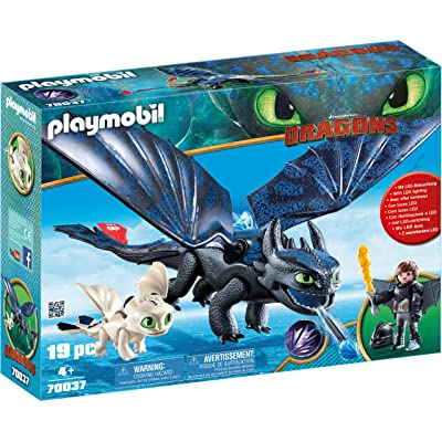 PLAYMOBIL How to Train Your Dragon III Hiccup & Toothless with Baby Dragon: Toys & Games