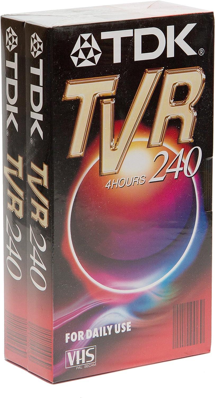 Tdk Tvr 240 4h Vhs Leerkassetten Doppelpack 2er Elektronik