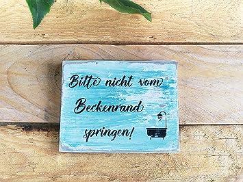 Evan332eddie Holzschild Schild Spruche Holz Spruch Bad Deko