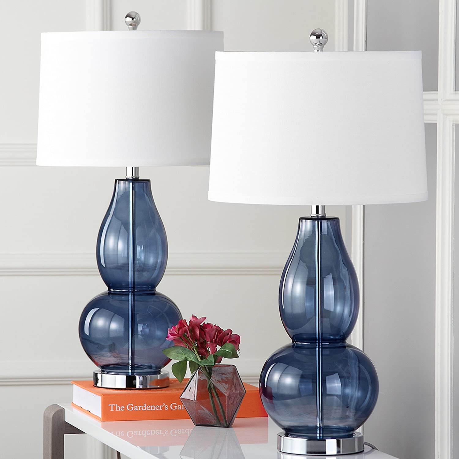 Amazon Com Safavieh Lighting Collection Mercurio Blue Double Gourd