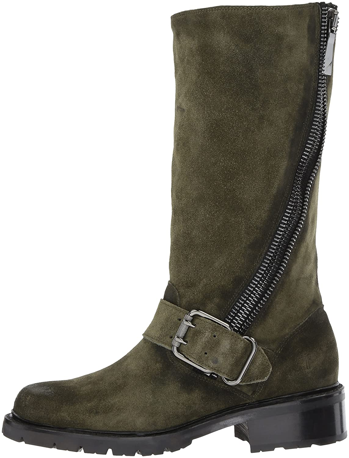 FRYE Women's Samantha Zip Tall Motorcycle Boot B01MR2ERUY Oiled 10 B(M) US|Forest Soft Oiled B01MR2ERUY Suede 46c55e