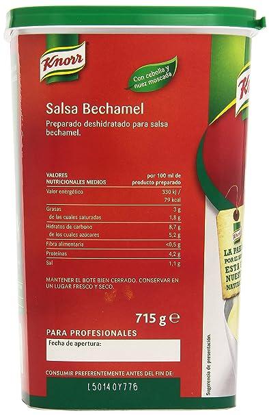 Knorr - Salsa Bechamel - Con cebolla y nuez moscada - 715 g: Amazon.es: Alimentación y bebidas