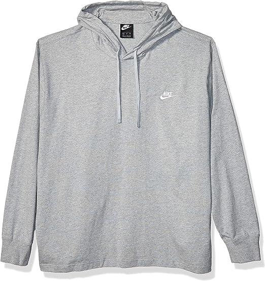 Nike Club Hoodie Dark Grey HeatherWhite