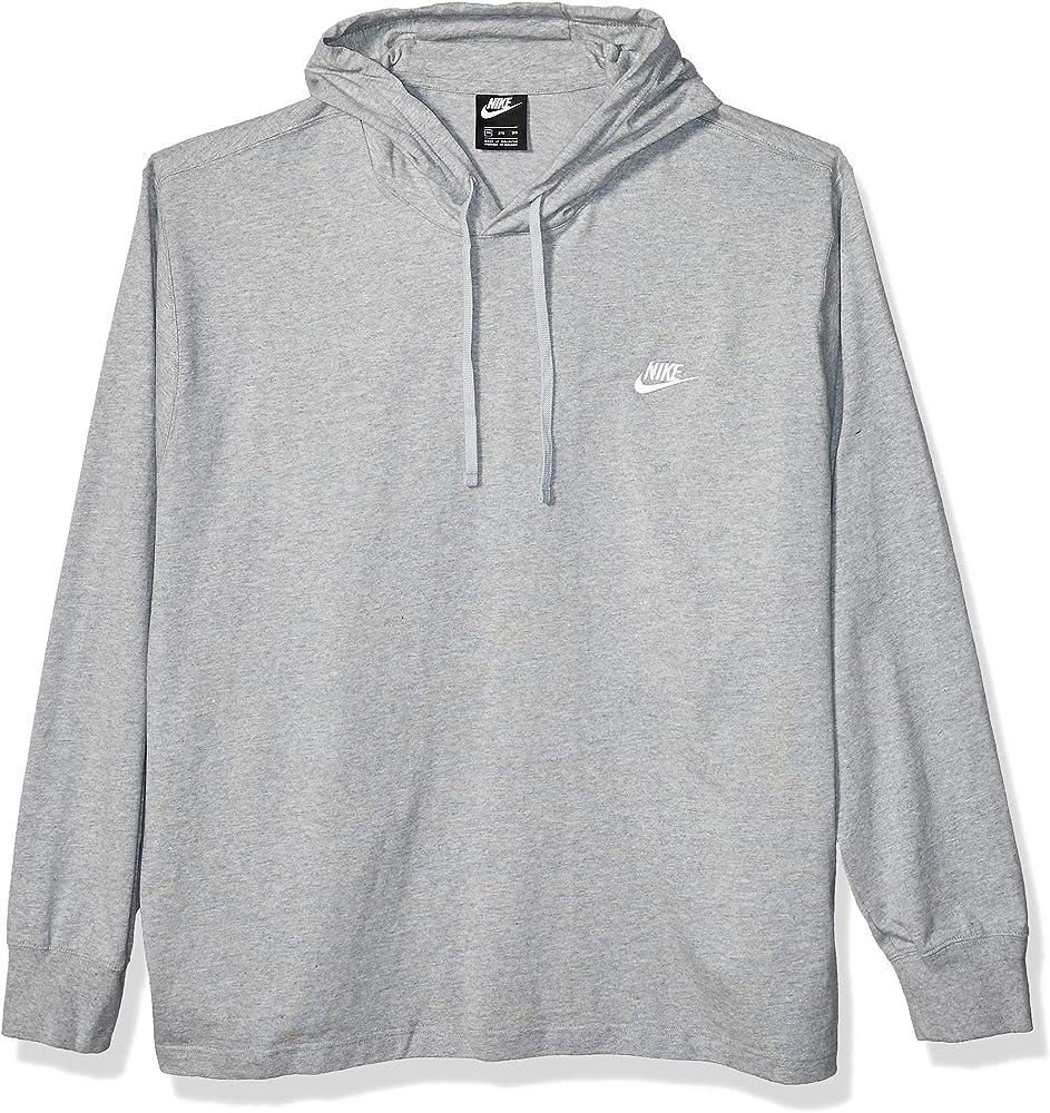 NIKE Sportswear Club Fleece Sudadera, Hombre, Gris, Large: Amazon ...
