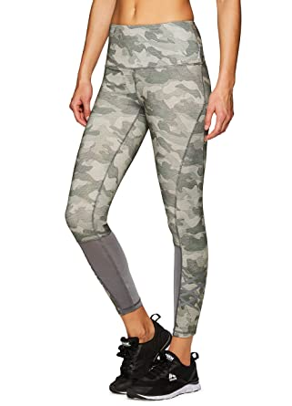 Leggings L Active Green Women's Workout RBX Camo Mesh P8wO0knX