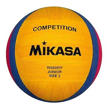 Mikasa 1213 W6608W - Balón de Waterpolo, Color Amarillo, Azul y ...