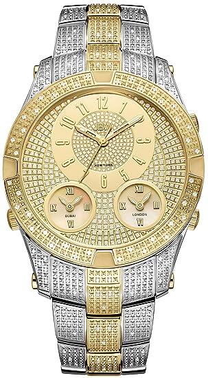ee1fb275783 JBW Men s Jet Setter III 1.18 ctw Diamond Stainless Steel Watch J6348C