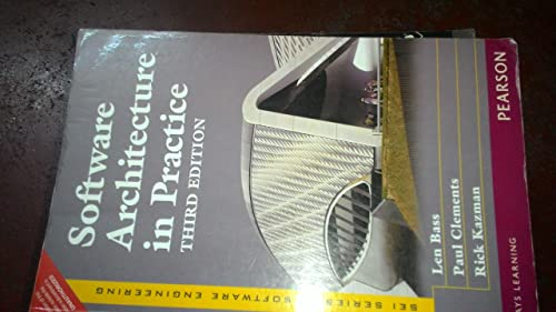 Software Architecture in Practice; 3rd Edition