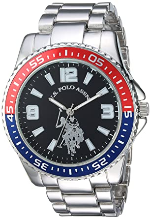 Image result for U.S. Polo Assn. Men's Analog-Quartz Watch with Alloy Strap, Silver, 21 (Model: USC80500)