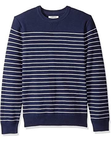 562ae7c35694e8 Amazon Brand - Goodthreads Men's Soft Cotton Striped Crewneck Sweater