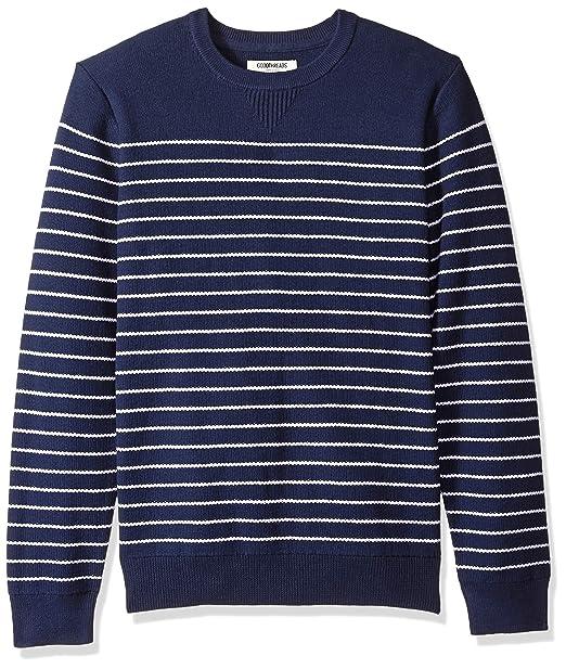Marca Amazon - Goodthreads Soft Cotton Striped Crewneck Sweater - sudadera Hombre: Amazon.es: Ropa y accesorios