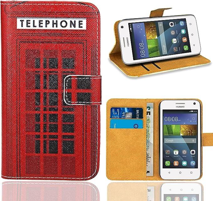 FoneExpert® Huawei Y360 / Y3 - Etui Housse Coque en Cuir Portefeuille Wallet Case Cover pour Huawei Y360 / Huawei Y3 (Pattern 12)