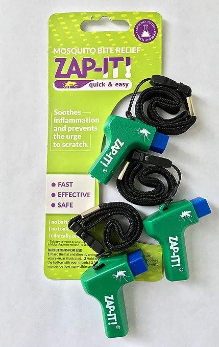 ZAP-IT! Alivio de la picadura de mosquito - Acción rápida - Zapper antipicazón - Seguro, conveniente y no tóxico, sin productos químicos, para reducir la picazón y la hinchazón (paquete de 6):