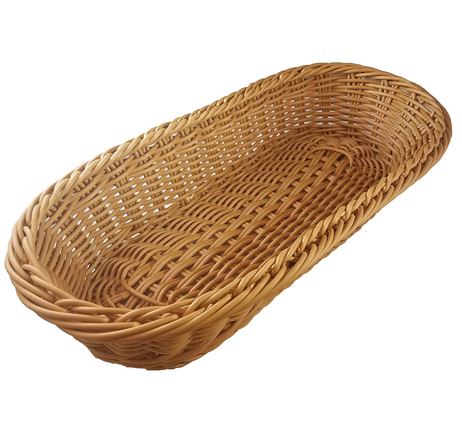 KOVOT Poly-Wicker Bread Basket - 14.5