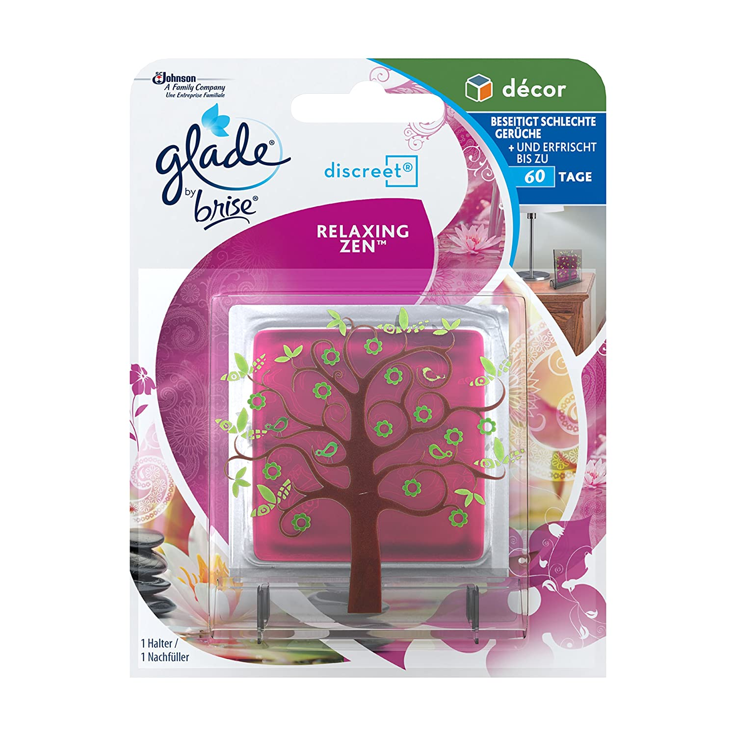 Glade by Brise Discreet Decor Original Relaxing Zen, 6 confezioni (6 x 8 ml) 674535