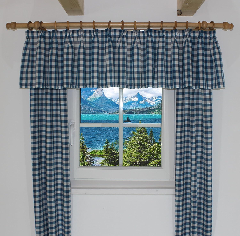 Amazon.de: Querbehang passend für Vorhang Landhaus Design \