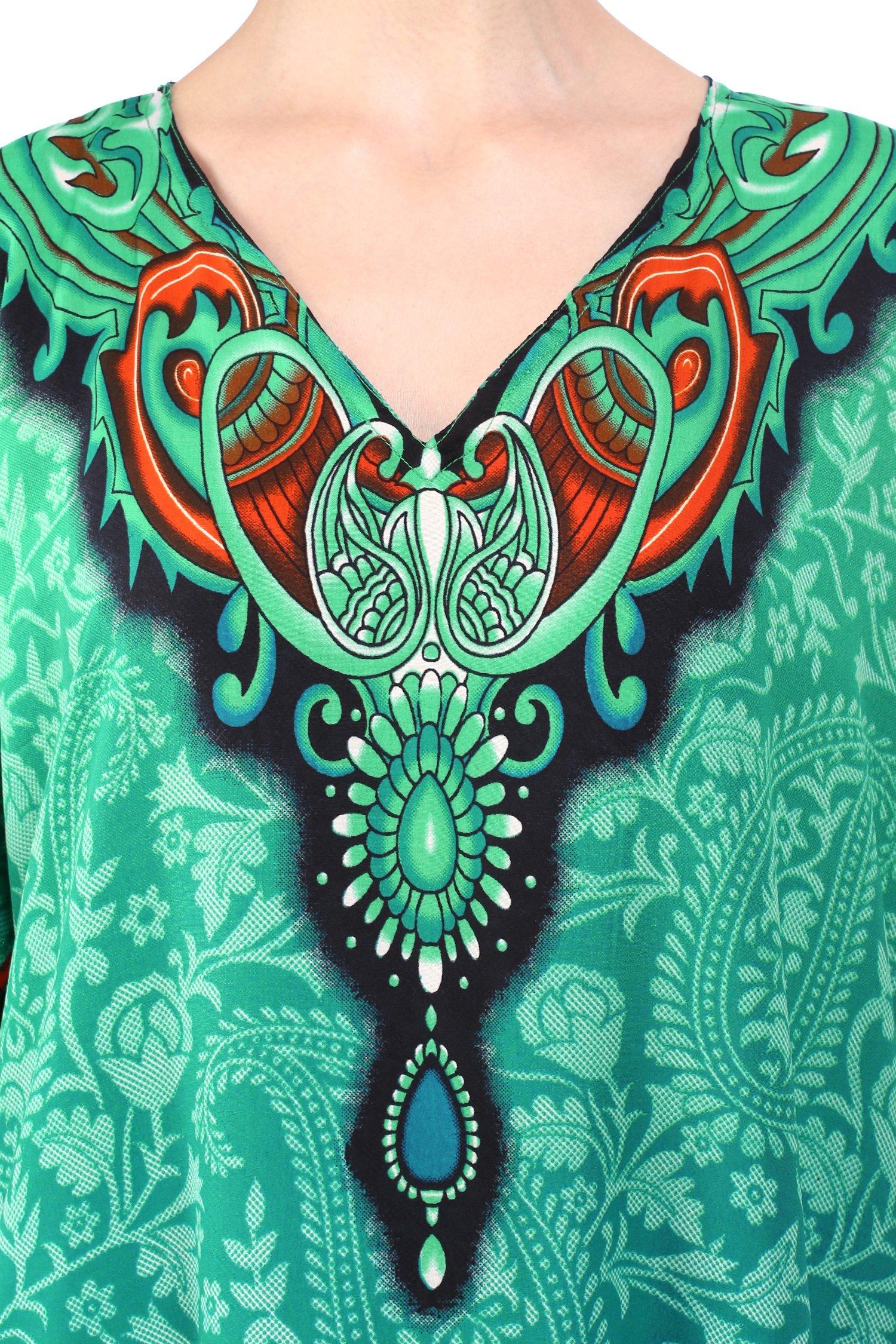Miss Lavish London Women Kaftan Tunic Kimono Free Size Long Maxi Party Dress Loungewear Holidays Nightwear Beach Everyday Cover up Dresses by Miss Lavish London (Image #4)