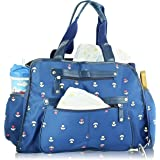 Next Mommy Baby Diaper Bag with Changing Pad, Stroller Clips and Shoulder Strap, Blue