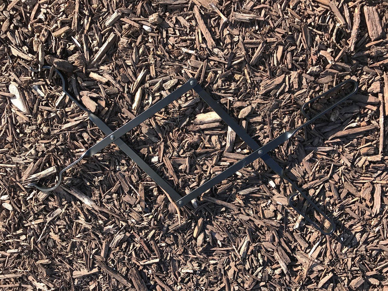 AMAGABELI GARDEN HOME Tong04 Freplace Firewood Tongs Large Black