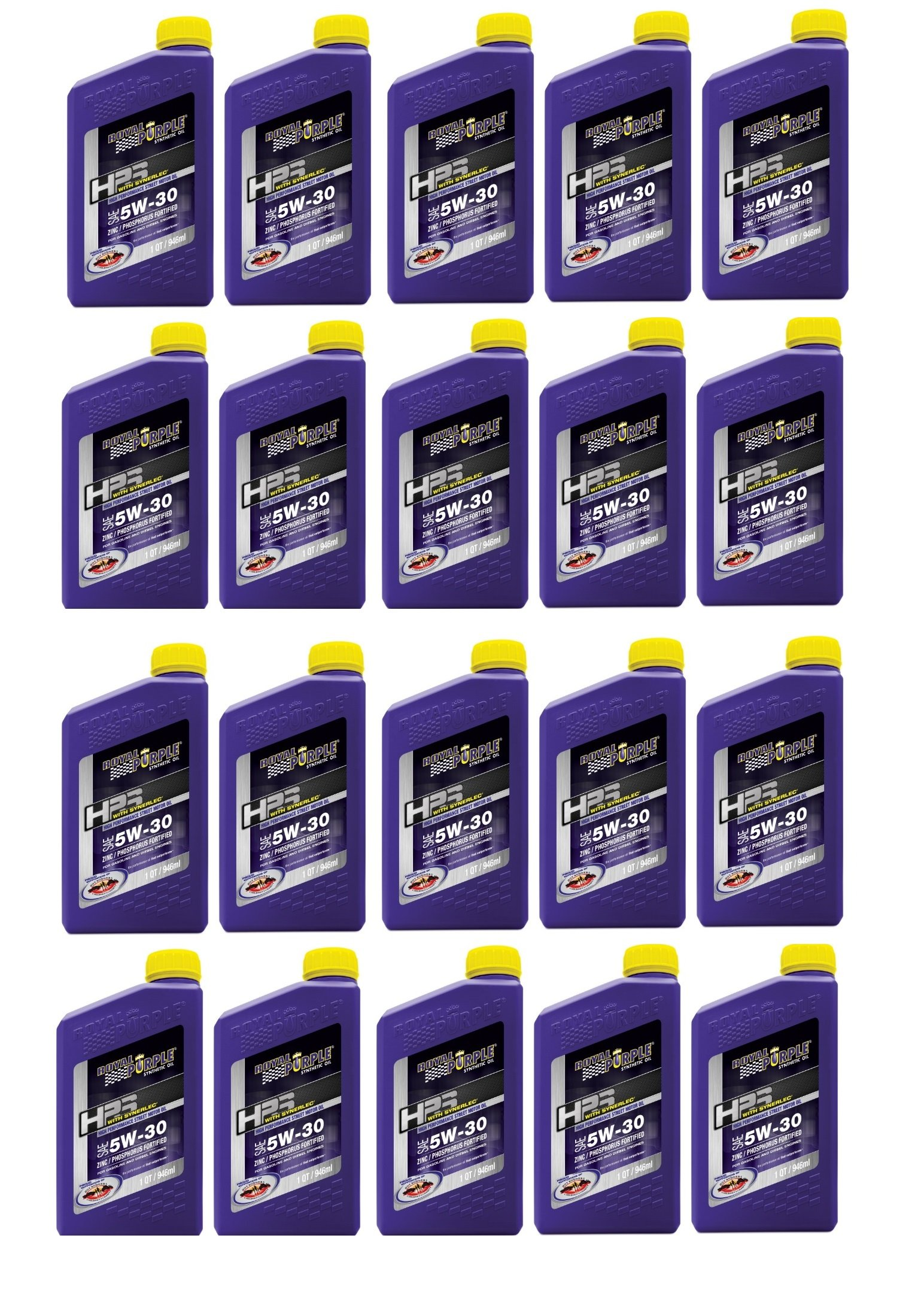 Royal Purple Street Synthetic HPS Motor Oil 5W30 Case of 20 Quarts