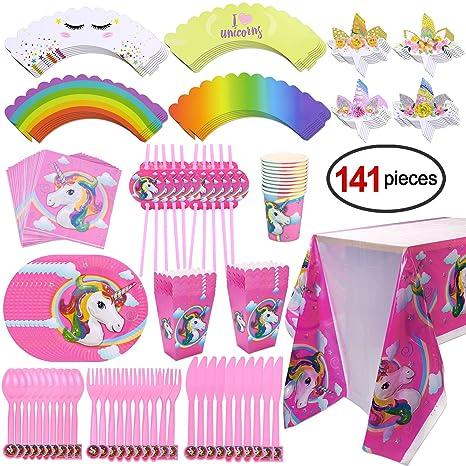 unicorno festa compleanno  Kit festa compleanno Unicorno, Konsait Unicorno Tavola Compleanno ...