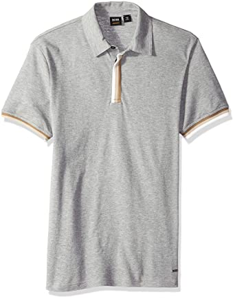 62dcb68a6 Amazon.com: Hugo Boss Men's Paxto Relaxed Fit Polo with Tape Play Slub  Yarn: Clothing