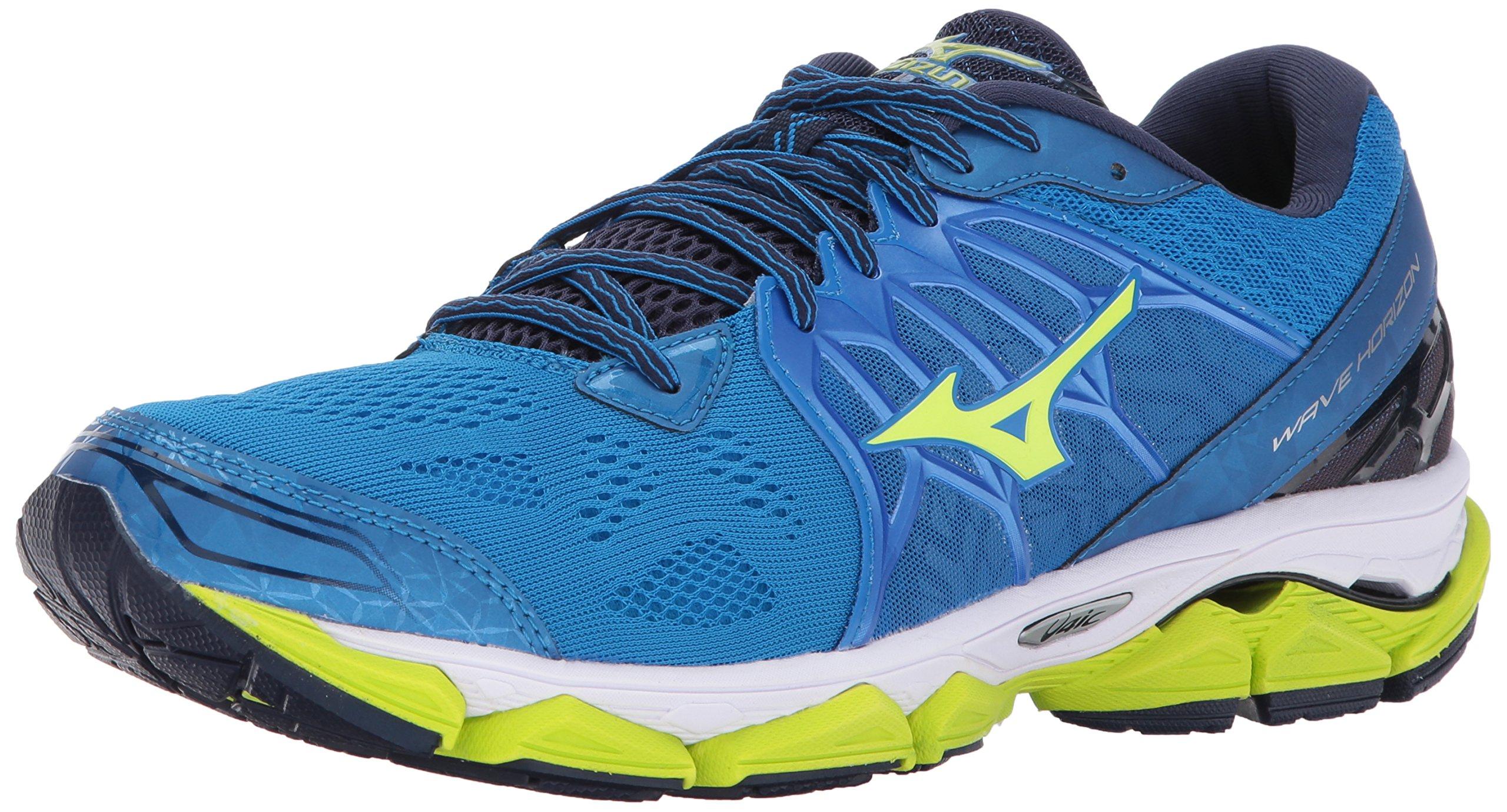 Mizuno Running Men's Mizuno Wave Horizon Running-Shoes, Directoire Blue/Safey Yellow/Peacoat, 11.5 D US