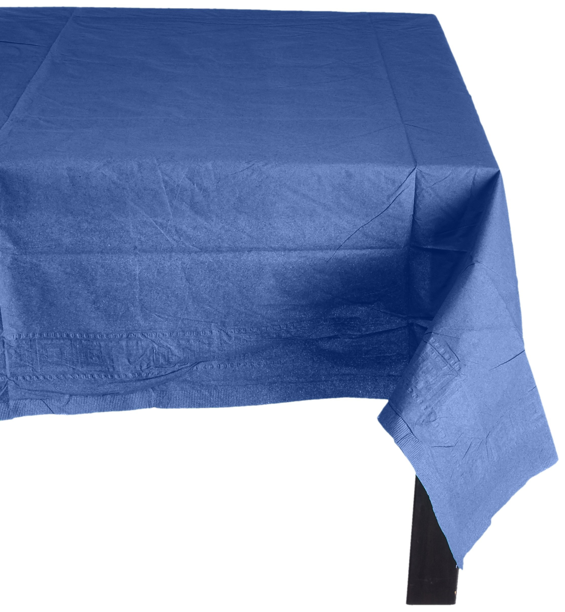 amscan Bright Royal Blue 3-Ply Paper Table Cover | Party Tableware, 6 Ct.