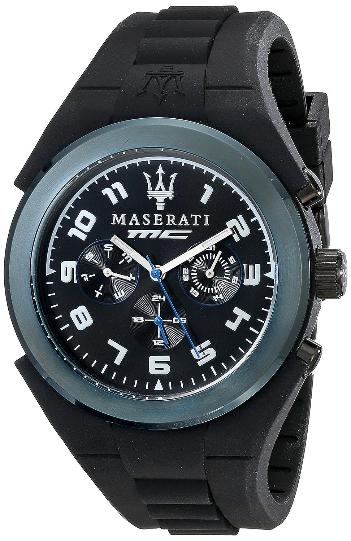 Maserati Herren-Armbanduhr XL Chronograph Quarz Silikon R8851115007