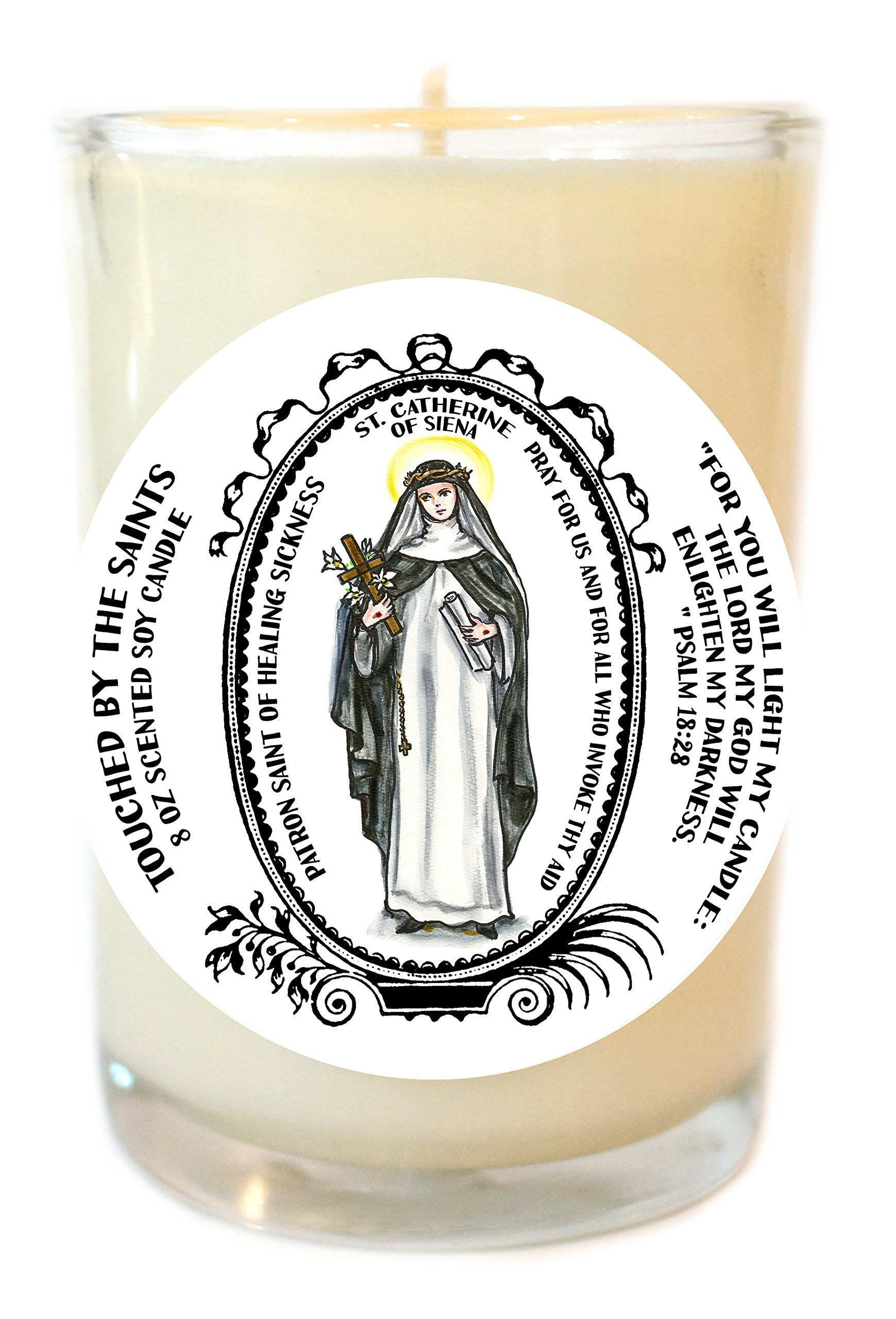 Saint Catherine of Siena Patron of Healing Sickness 8 Oz Scented Soy Candle