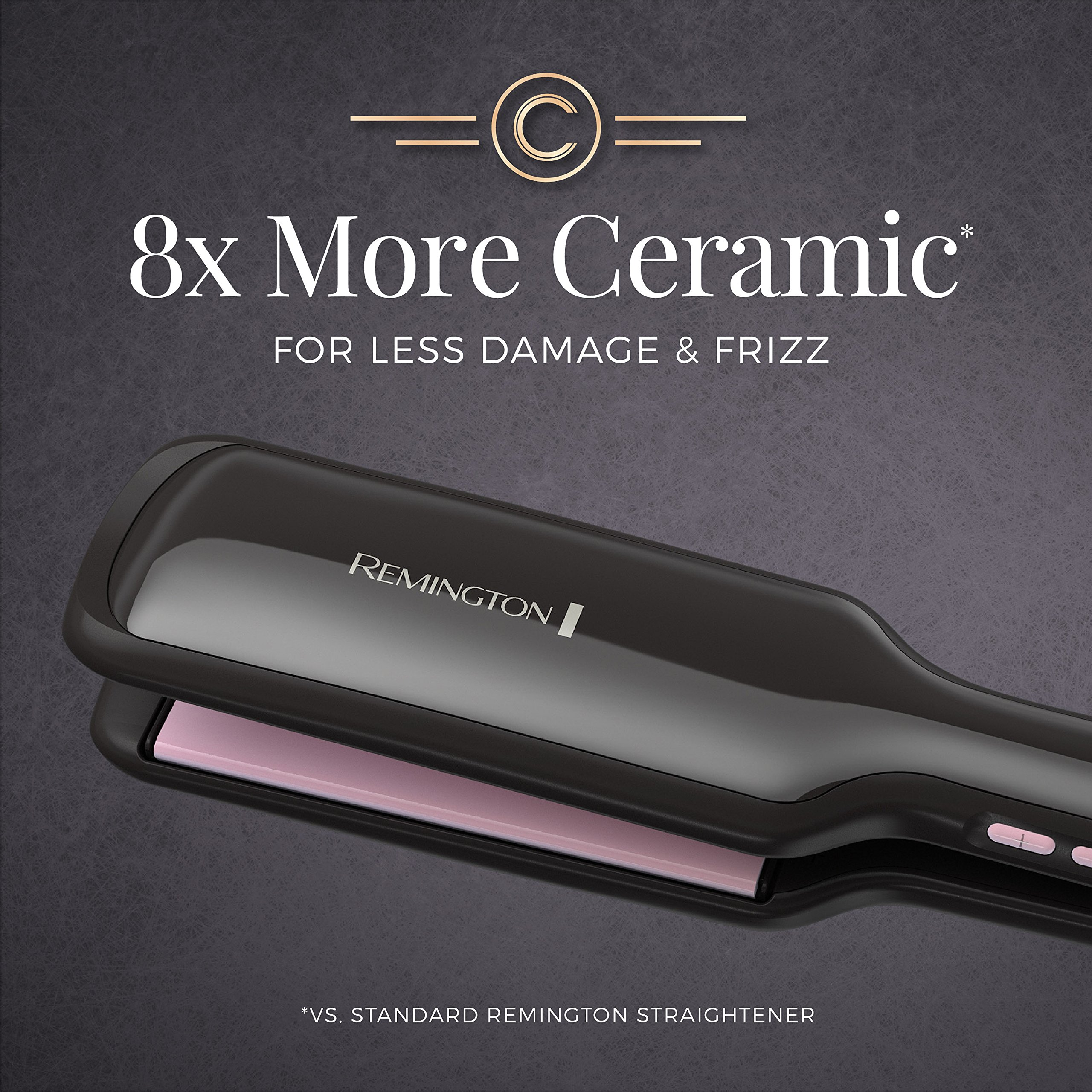 Remington Pro 2'' Flat Iron with Pearl Ceramic Technology and Digital Controls, Black, S9520 by Remington (Image #5)