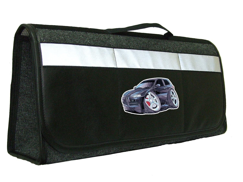 mappe Koolart borsa organiser per bagagliaio auto Alfa Romeo 147 accessori perfetto in auto soluzione di archiviazione per gli utensili Winter Essentials nero per fissare saldamente a soffietto interna con chiusura a velcro