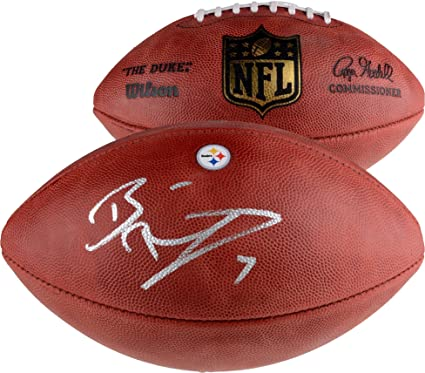 f991d33e80c Ben Roethlisberger Pittsburgh Steelers Autographed Duke Decal Football - Fanatics  Authentic Certified