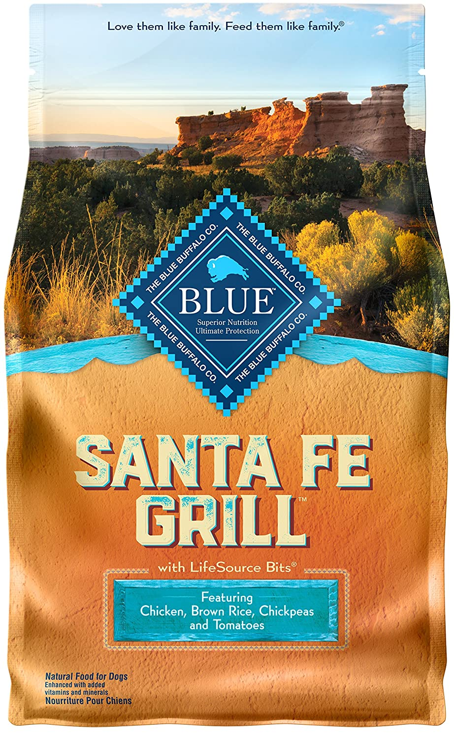 Blue Life Protection Dog Food Buffalo Santa Diamond Roasted Almonds Barbecue 130 Gr Fe Grill Natural Adult Dry With Usa Farm Raised Chicken 1 Count