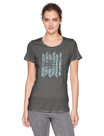 ca26d8892d8 Amazon.com: Icebreaker Merino Women's Tech Lite Short Sleeve Low Crewe  Graphic Athletic T Shirts, Soundless/Metal, X-Small: Clothing