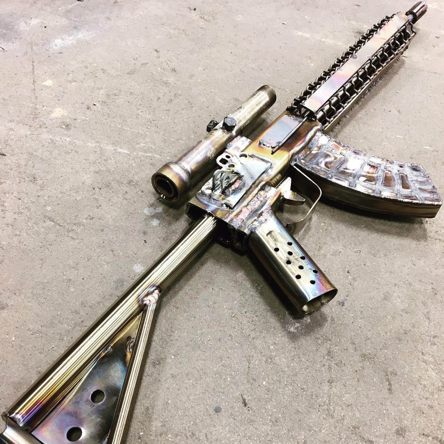 Stainless Steel AR-15 Reproduction by OzarkSteelArtisan