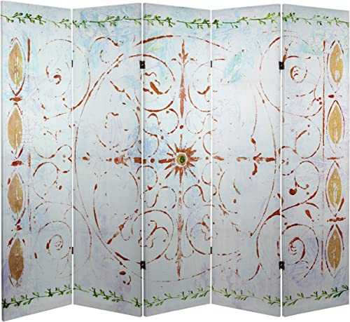 Oriental Furniture 5 ft. Tall Winter s Peace Canvas Room Divider