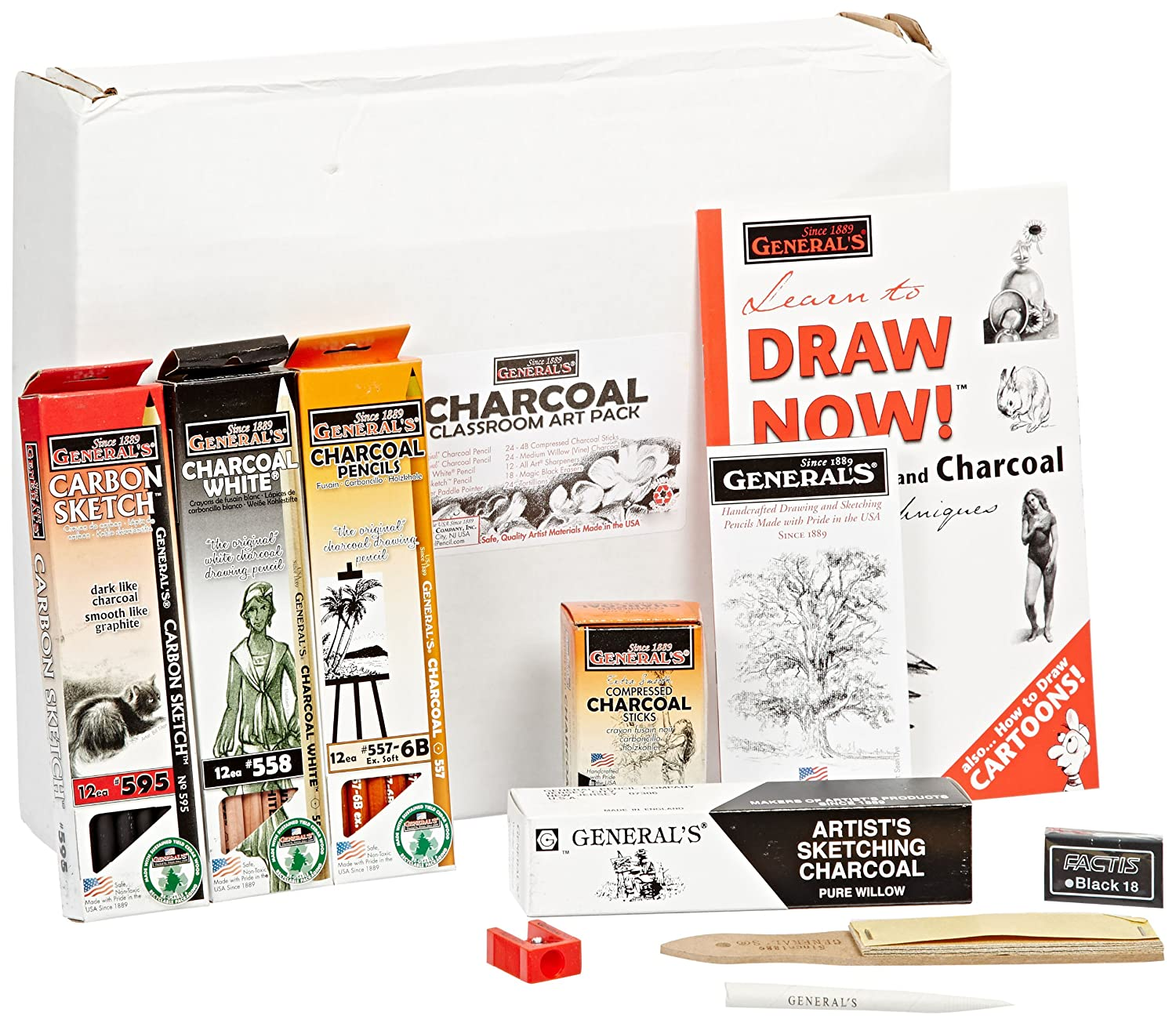 Image of Charcoals General's Charcoal Drawing School Pack